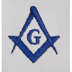 Freemason Masonic Gloves In Real Kid Leather With Blue S C & G
