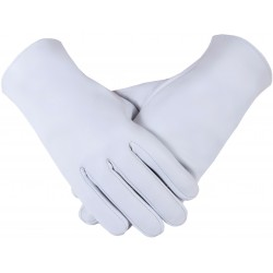 Freemason Masonic Gloves in Real Kid Leather -Plain Gloves