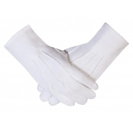 Freemason Masonic Gloves in Plain White Cotton Gloves (F)
