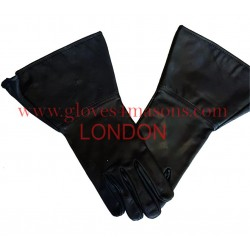 Real Leather Plain Black Gauntlet with NO DARTS