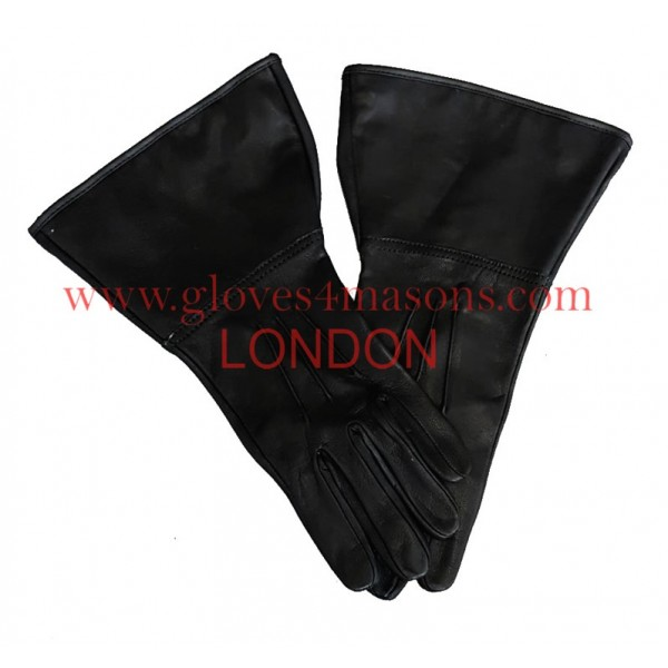 Real Leather  Black Gauntlet with 3 Darts