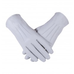 Freemason Masonic Gloves in Plain Leather With 3 Darts